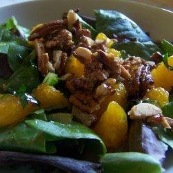 Mandarin Orange and Spinach Salad recipe