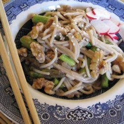 Spring Noodle Stir-Fry With Asparagus and Walnuts recipe