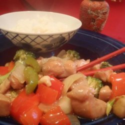 Cashew Chicken and Asparagus Stir Fry recipe
