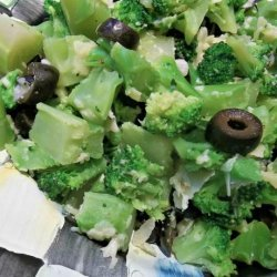 Broccoli With Black Olives and Parmesan recipe