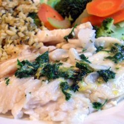 Grilled Fish With Lemon Parsley Butter recipe