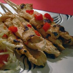 Chicken and Roasted Pepper Skewers recipe
