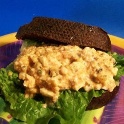 Rachael Ray's Deviled Egg Salad on Pumpernickel recipe