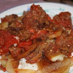 Traditional Iraqi 'casserole'- Tepsi Baytinijan recipe