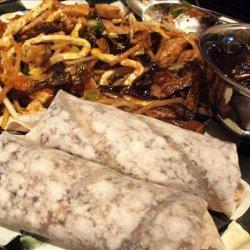 Marvelous Mu Shu Pork Without Cabbage! recipe