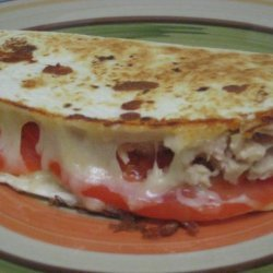 Bevs Hot and Cheesy Tuna Quesadillas to Die For recipe