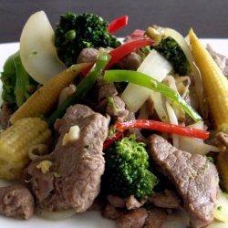 Chinese Stir Fried Lamb With Chilli recipe