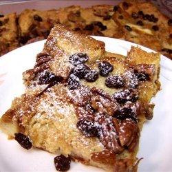 Amaretto Raisin Oven-Baked French Toast recipe