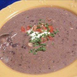 Easy, Low-Fat Black Bean Soup recipe