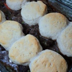 Beef Stew With Onion Gravy and Biscuit Dumplings recipe