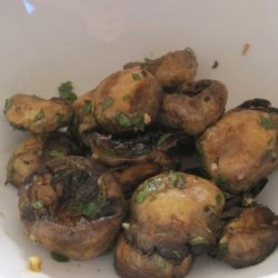 Grilled Mushrooms With Garlic Oil recipe