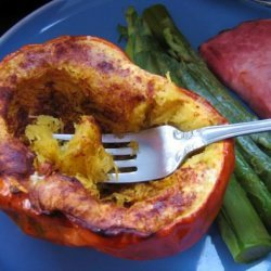 Baked Acorn Squash With Cinnamon recipe