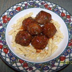 Tomato Glazed Meatballs recipe