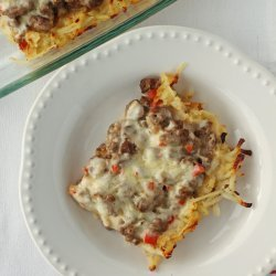 Cheesy Potato Beef Bake recipe