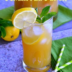 Iced Lemon Pineapple Green Tea recipe