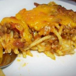 Cheeseburger Spaghetti Pie recipe
