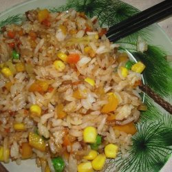 Fried White Rice With Vegetables recipe