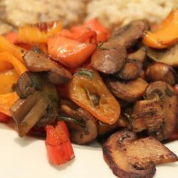 Bell Pepper and Mushroom Saute recipe