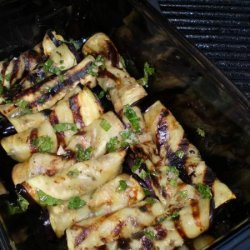 Grilled Eggplant Rolls With Mint and Garlic Dressing recipe