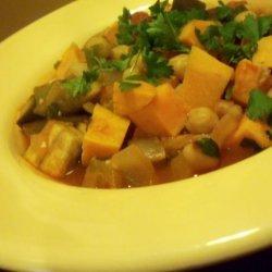 Sweet Potato, Chickpea and Eggplant Hotpot recipe