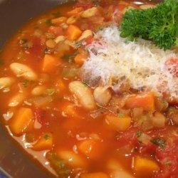 Lentil and Cannellini Bean Soup recipe
