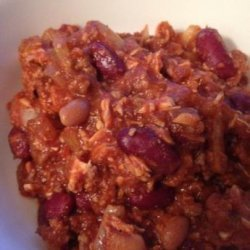 Who-Knew???? Ground Beef and Chicken Crock Pot Chili recipe