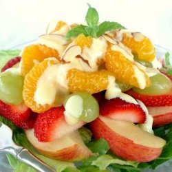 Fruit Salad with Sweet Orange Cream recipe