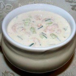 Buttermilk and Shrimp Soup recipe