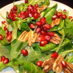 Arugula Salad With Pomegranate and Toasted Pecans recipe
