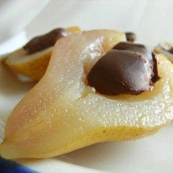 Spiced Pears With Chocolate Mascarpone recipe