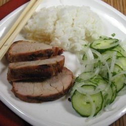 Sesame Pork With Thai Cucumber Salad recipe