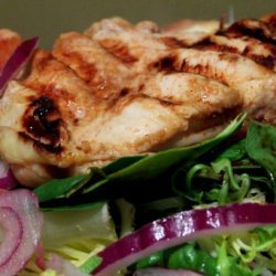 Grilled Chicken Salad With Raspberry Vinaigrette recipe