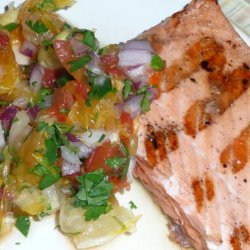 Grilled Salmon With Tangy Citrus Salsa recipe