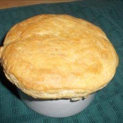 Cream of Portobello Soup With Puff Pastry Tops recipe