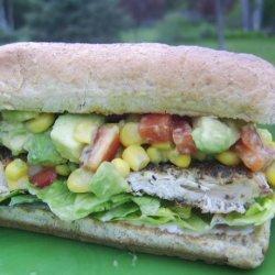 Chicken Burgers With Avocado Salsa recipe