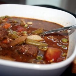 Meatball Vegetable and  Barley Soup recipe