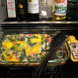 Baked Eggs W/Spinach and Tomatoes recipe