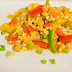 Rice Chickpea Salad recipe