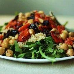 Chickpea, Artichoke Heart, and Tomato Salad With Arugula recipe