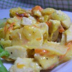 Scalloped Potatoes Chicken Supper recipe