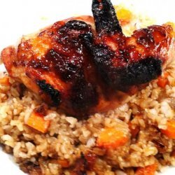 Crispy Chicken a L'Orange and Brown Rice recipe
