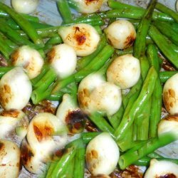 Sauteed Beans and Pearl Onions recipe