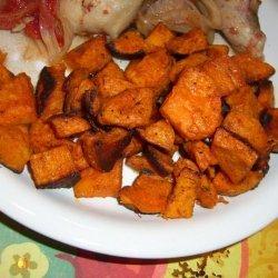 Curried Sweet Potato Wedges recipe