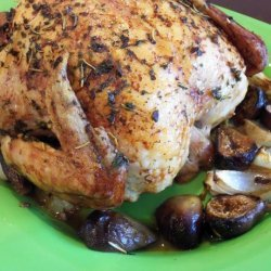 Roasted Chicken With Fresh Figs and Onions recipe