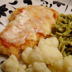 Lighter Chicken Parmesan With Simple Tomato Sauce recipe
