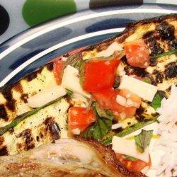 Grilled Zucchini With Caprese Salsa recipe