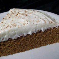 Indian Pudding Cake With Molasses Cream recipe