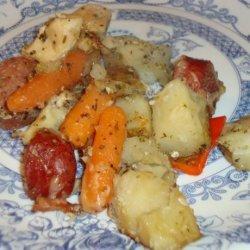 Italian Style Chicken, Sausage & Potato Bake recipe
