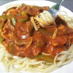 Home Economics Class Pasta and Beef Strips recipe