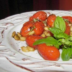 Sauteed Cherry Tomatoes With Pine Nuts recipe